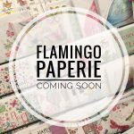 Greetings cards and a banner saying Flamingo Paperie Coming Soon