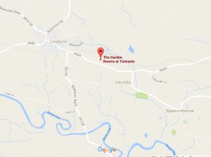 Map of the Garden Rooms at Tennants in Leyburn, North Yorkshire