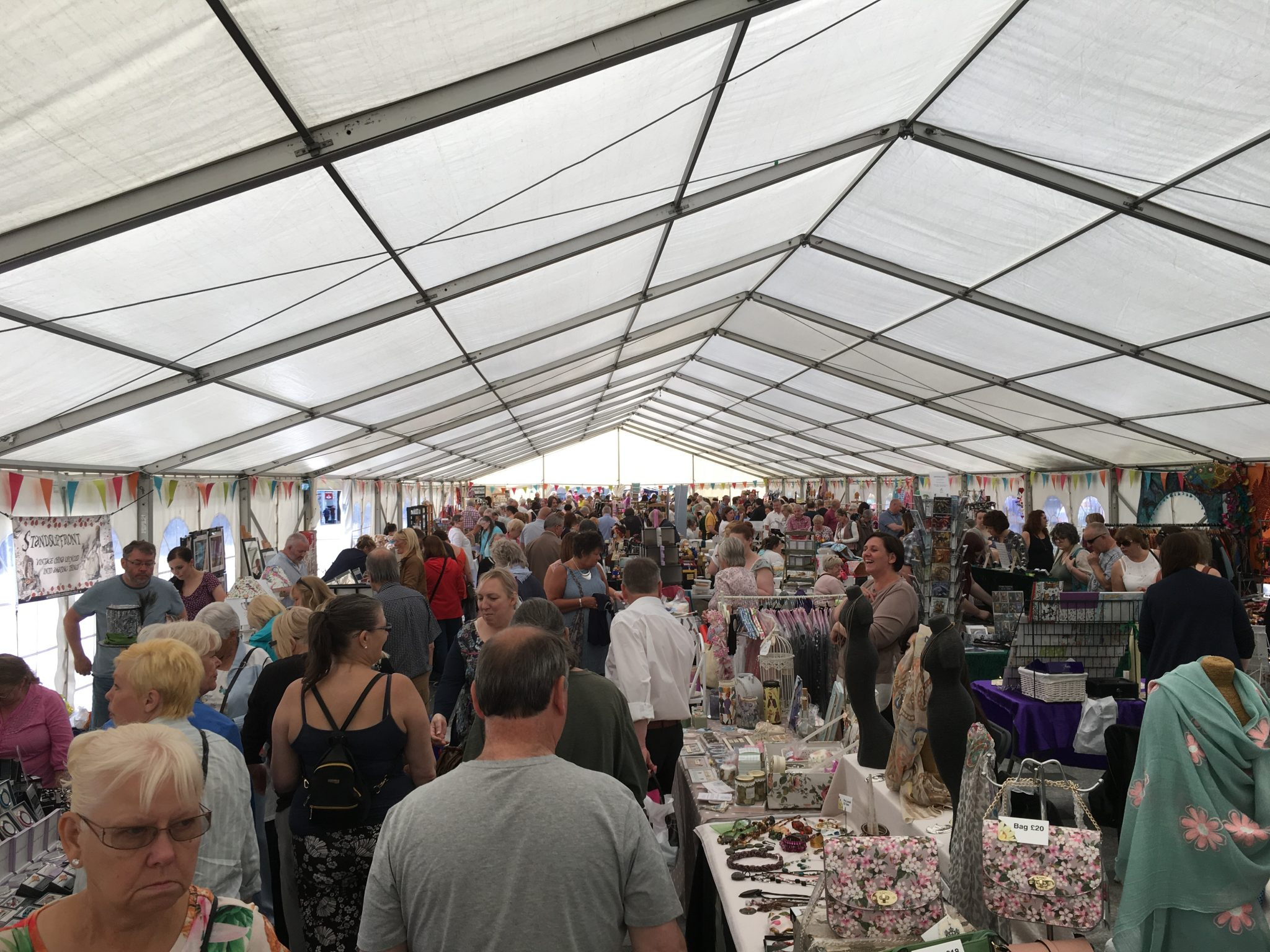 Our October visit to Stockton Chic Vintique may look like this packed marquee on Saturday 8th July