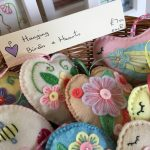 A selection of felt handcrafted Birds & hearts