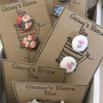 Buttons covered in vintage fabrics